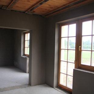 Cementa kaļka apmetums Ceresit ZKP Aiļu izveide ar deformācijas profiliem pie loga rāmja,